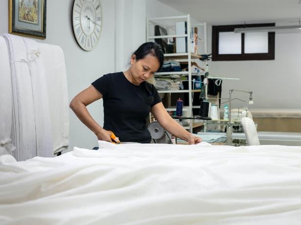 Manufacturing of sheets - Originals Interiors