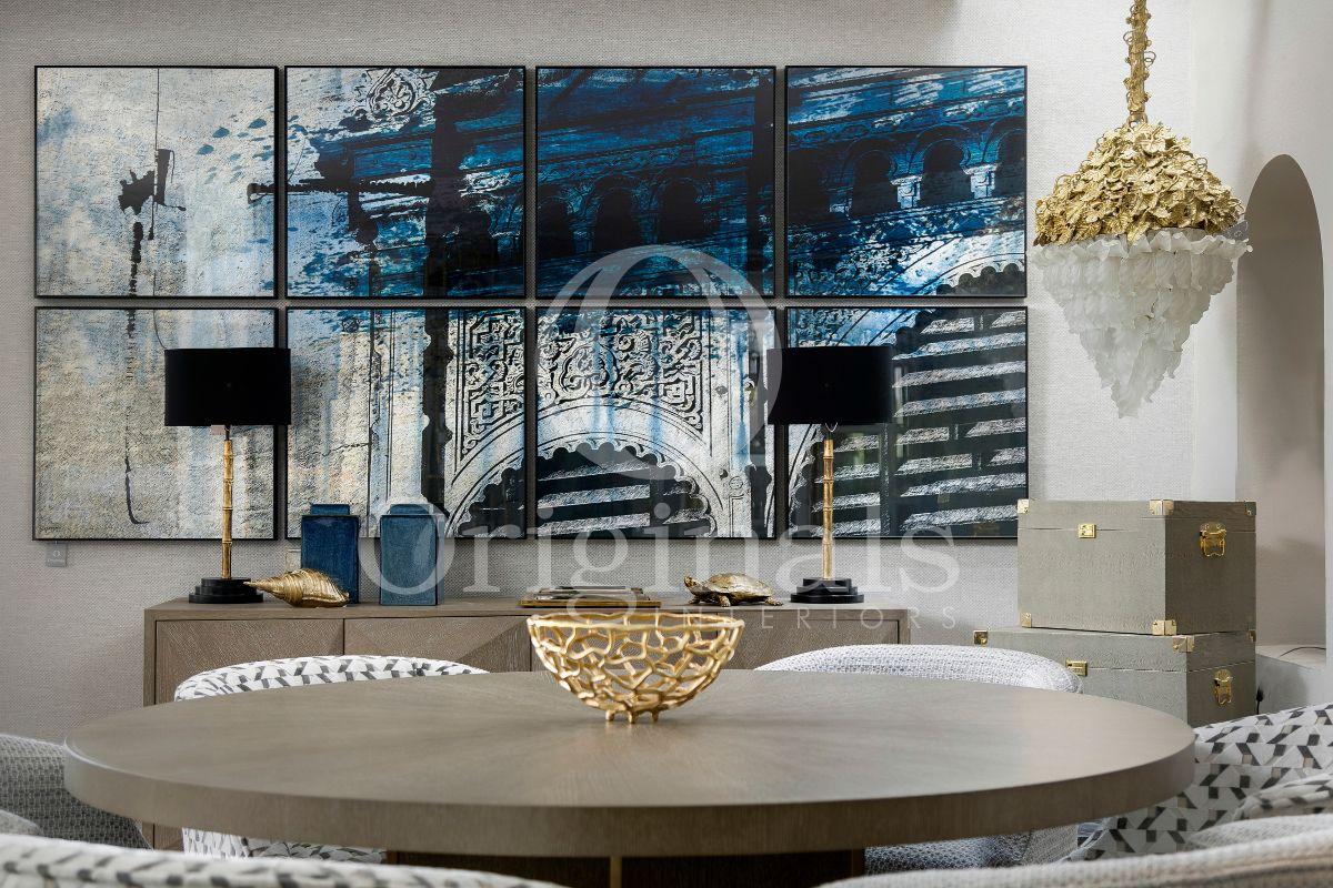 Blue artwork in a living room - Original Interiors