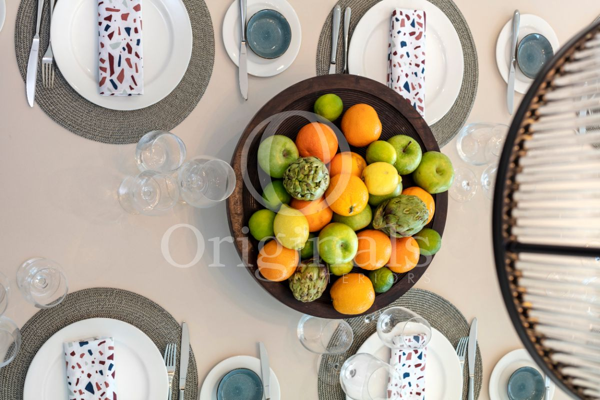 Brown Fruit Basket on dining table - Originals Interiors