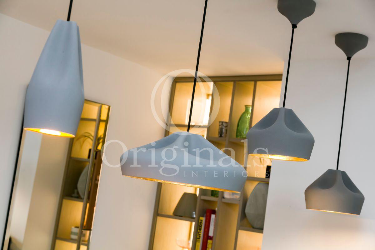 Grey hanging lamps in luxury area - Originals Interiors