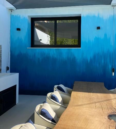 Blue Wall in a living room